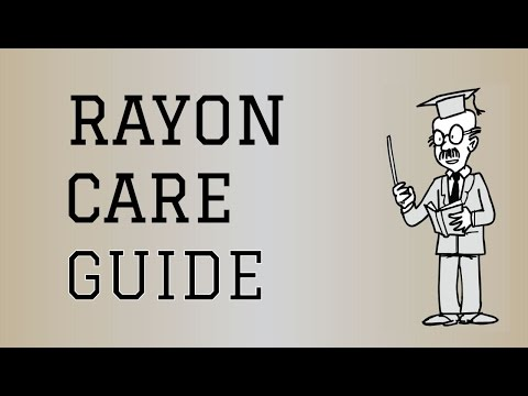 Fabric Care Guide : Rayon  How to care for Rayon Clothing