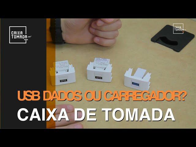 USB Dados e USB Carregador para Caixa de Tomada