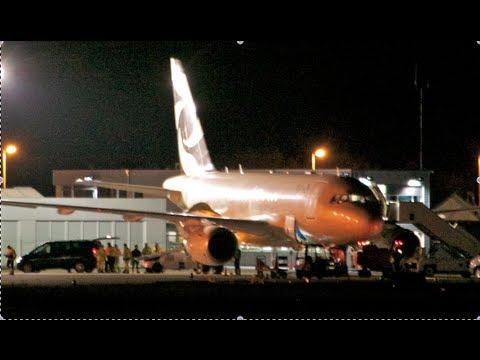 Luxury Airbus Elite 318+ - Night Landing in Berne HD