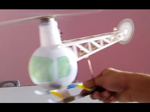 How To Make A Helicopter Electric Helicopter Using Bottle