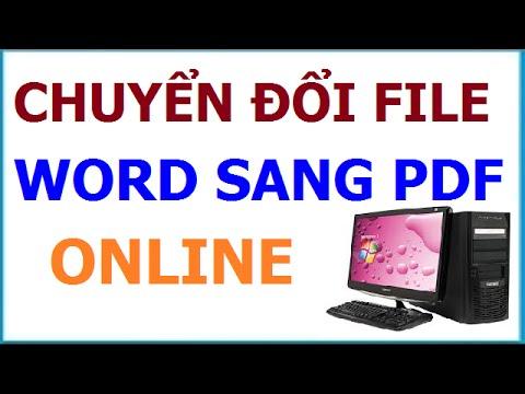 Cách chuyển file Word sang PDF online miễn phí