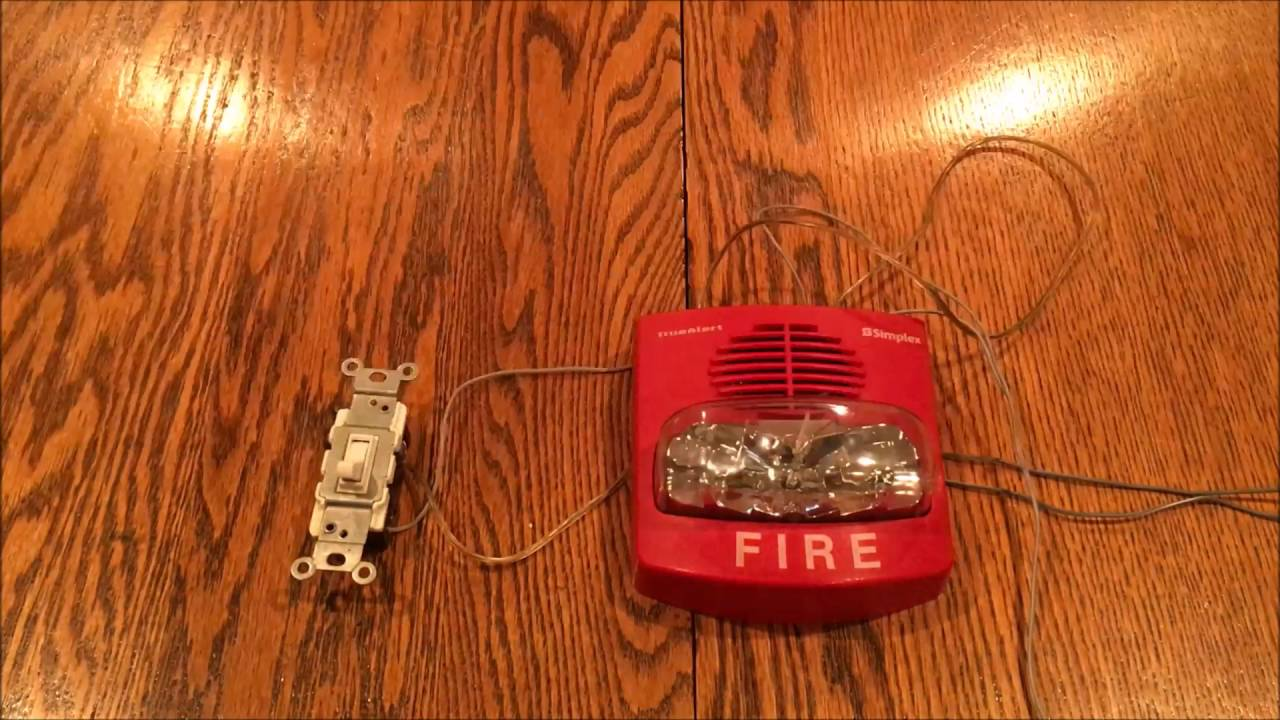 Simplex TrueAlert Fire Alarm Test #2: With Manual Switch Coding