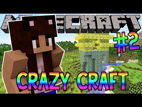 Minecraft: YouTuber Survival #2 - Evil Wasps (Minecraft Crazy Craft 3.0 SMP)
