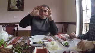 Путешествие в Баку, Азербайджан. Обед в Шемахинском районе. Март 2019г. Часть 8.