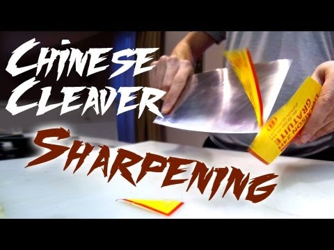 Sharpening the Chinese Cleaver ( Warning )