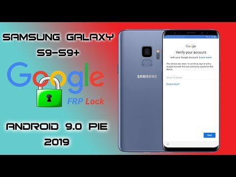 FRP ANDROID 9 0 SAMSUNG GALAXY S9 S9 PLUS REMOVE GOOGLE
