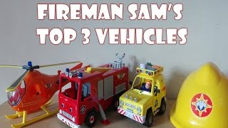 Top 3 Firefighter Fireman Sam Toy Vehicles Inc., HOOK HELICOPTER, 4x4 JEEP & JUPITER fire engine