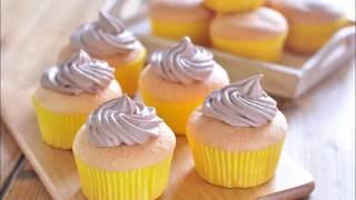 戚風杯子蛋糕。Chiffon cup cake