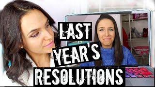 REACTING TO LAST YEAR'S RESOLUTIONS