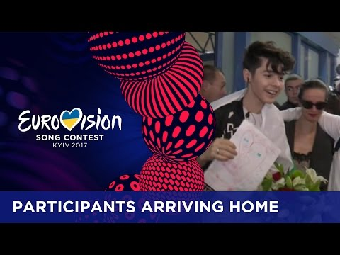Eurovision artists arrive home