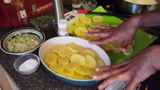Watch how I prepare Potato Gratin with Gruyere cheese, cream, and Y...