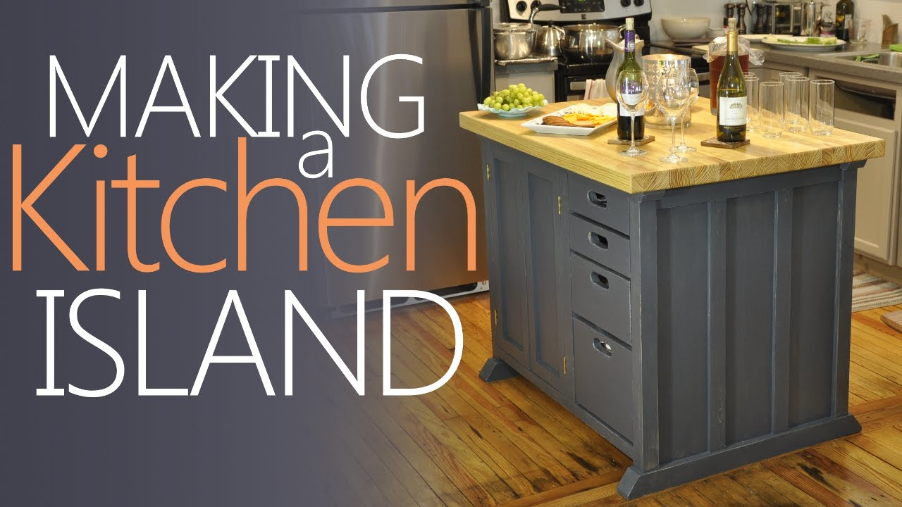 Making My Kitchen Island   With LOTS Of Storage!   YouTube