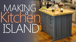 Making My Kitchen Island - With LOTS of Storage!