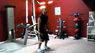 Training Workout- Squat-Curl-Twist and Press