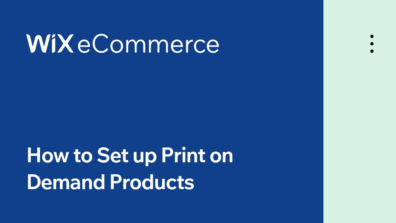 Wix eCommerce | How to Set up Print on Demand with Printful