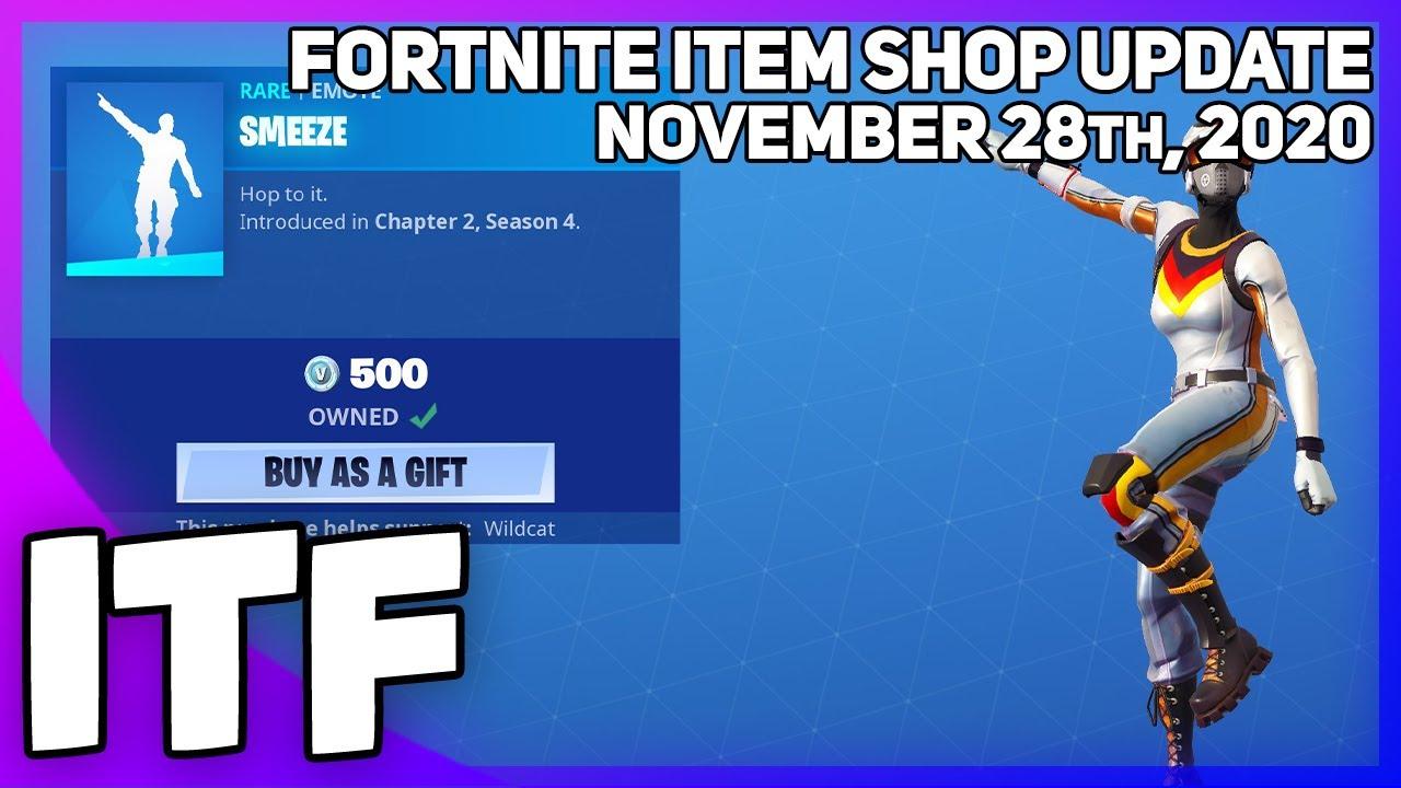 Fortnite Item Shop *NEW* SMEEZE EMOTE! [November 28th, 2020] (Fortnite Battle Royale)