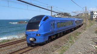 信越本線 瑠璃色E653系U106編成 臨時快速高田お花見号 鯨波→青海川にて /Japanese Trains E653Series ShinetsuLine