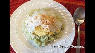 Xôi LÁ DỨA nước cốt dừa - Món ăn ngon Sài GÒN xưa - Cách nấu nồi cơm điện thơm - món ăn vặt tuổi thơ