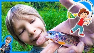 Axel Goes TROUT FiSHING! (🤗caught one)