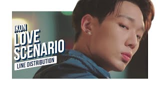 iKON - LOVE SCENARIO Line Distribution (Color Coded) | 아이콘 - 사랑을 했다