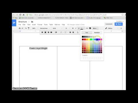 Create a Brochure with Google docs-with example - YouTube