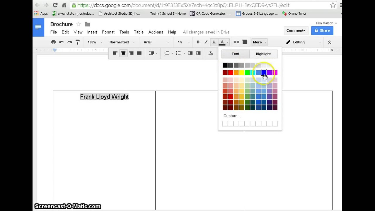 create a brochure with google docs with example