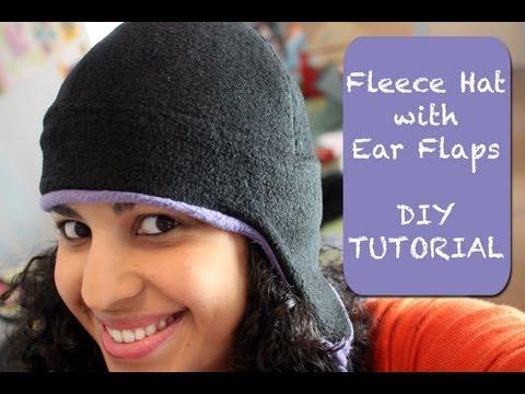 Fleece Hat With Ear Flaps- Diy Tutorial & Free Pattern