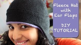 Fleece Hat With Ear Flaps- Diy Tutorial & Free Pattern
