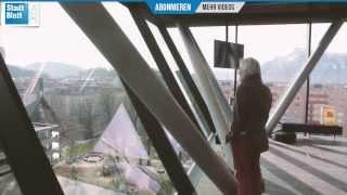 Stadt:Bilbliothek Salzburg - Panoramabar und Lese-Lounge