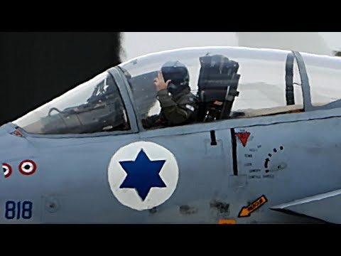 🇮🇱 Israeli Air Force F-15 Fighter Jets Flying In The UK at RAF Waddington 🇬🇧