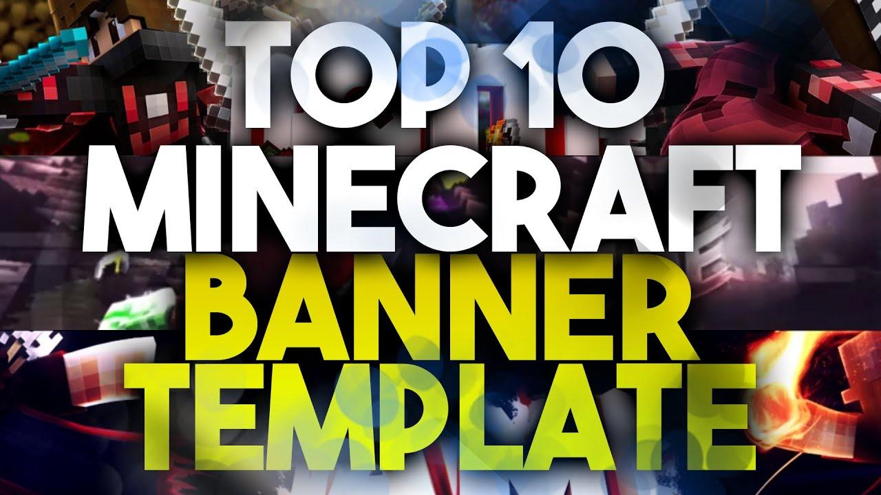 TOP 10 FREE MINECRAFT BANNER TEMPLATE #1   Photoshop + Downloads ...