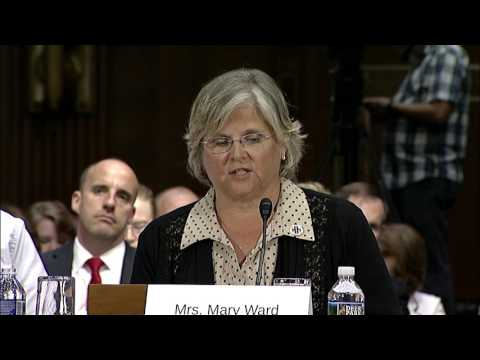 Mrs.  Mary Ward Testimony on Military Caregivers -- Aging Committee Hearing 6 14 17