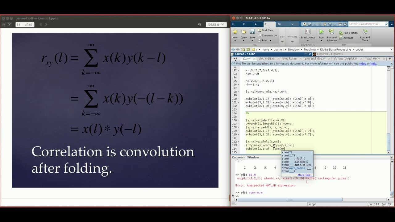 Digital Signal Processing Using Matlab 5 (Convolution, Correlation and  Exercises)