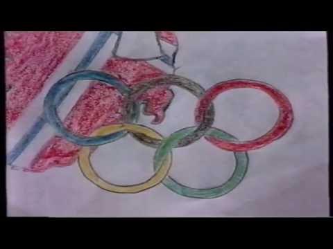 Tegninger om OL på Lillehammer (fra NRK 1990)