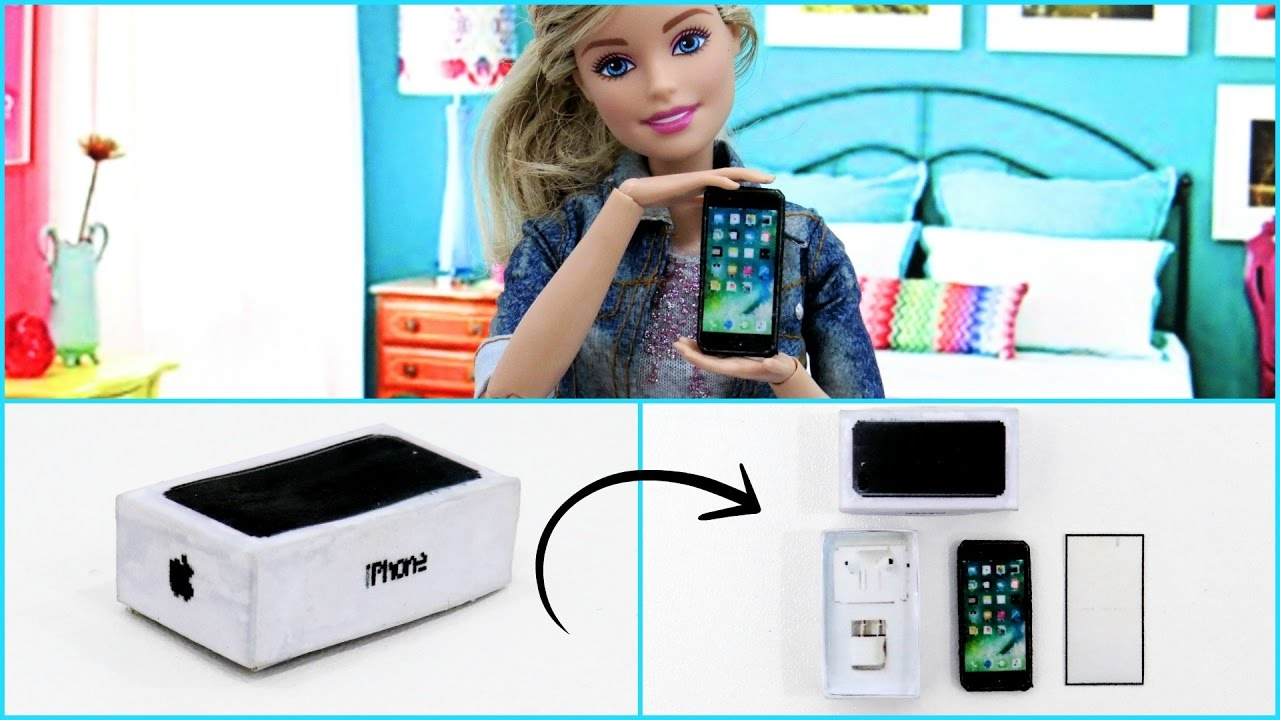 Miniatura Iphone 7 Plus DIY Para Barbie E Outras Dolls