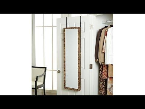 OvertheDoor Beauty Armoire with FullLength Mirror