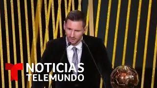 Lionel Messi Hace Historia Al Ganar Su Sexto Balón De Oro | Noticias Telemundo