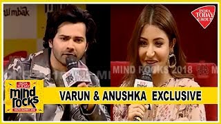 Varun Dhawan And Anushka Sharma Exclusive At Mind Rocks 2018