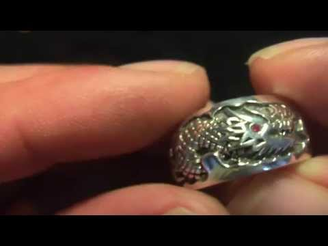 Oriental Ruby Eye Nāga Dragon Ring