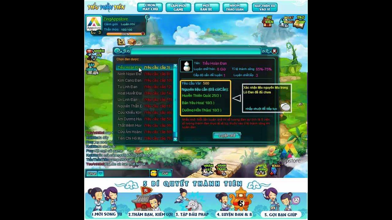 Web game chiến thuật mới Tiểu Thần Tiên lần đầu ra mắt Zing Appstore (Demo giao diện luyện đan)