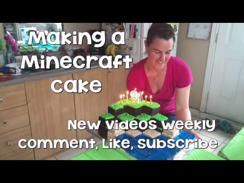 How To Make Minecraft Cake Tutorial