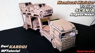 KEREN!!! Membuat Miniatur Trailer Angkut Mobil Untuk Truk Scania | Ide Kreatif
