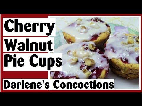 Cherry Walnut Pie Cups - Easy Muffin Tin Recipe - Darlene's Concoctions