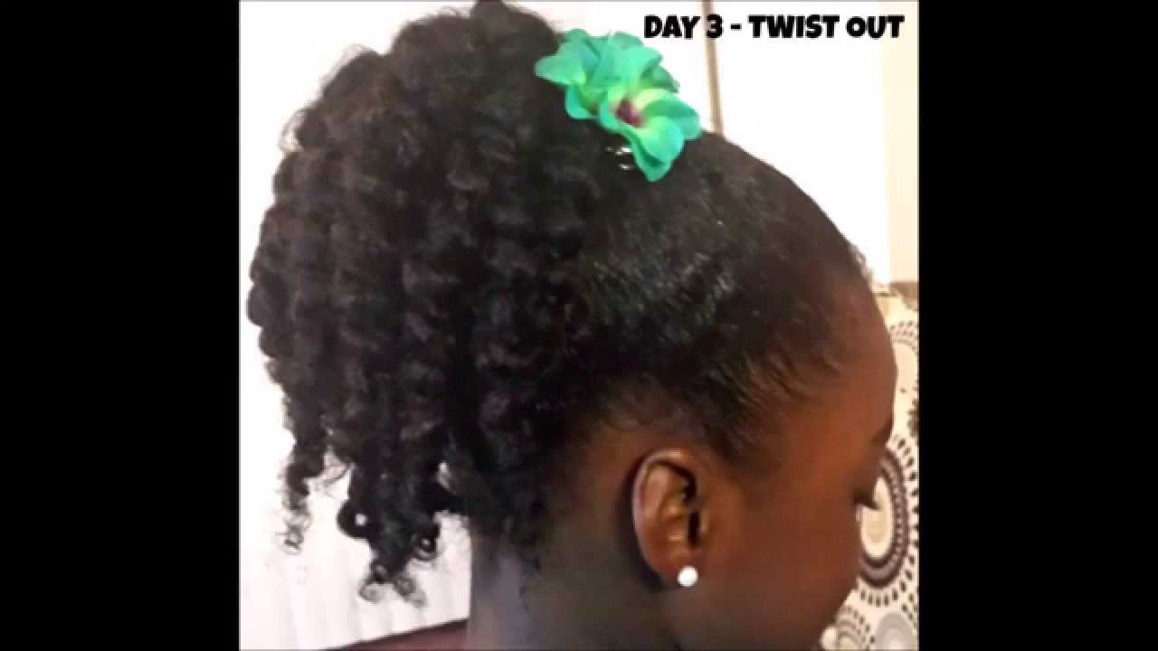 Natural Hair Little Girls Easy Twist Out Pony Tutorial