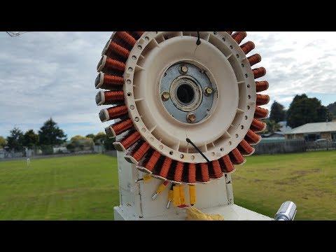 Rewiring A 36 Pole SmartDrive Motor For Hydro/Wind Turbine Generator