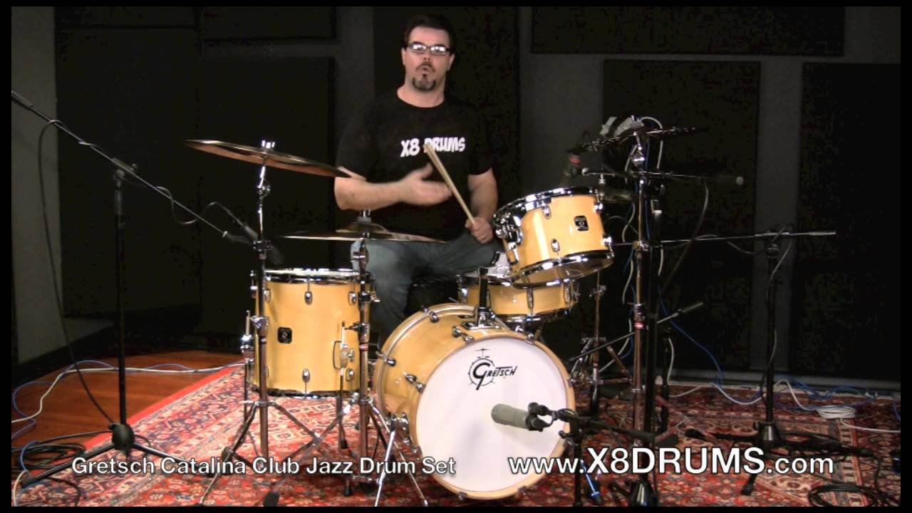 gretsch catalina club jazz drum set review introduction x8 drums youtube. Black Bedroom Furniture Sets. Home Design Ideas
