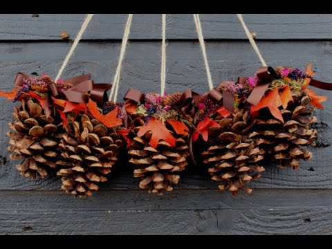 DIY Christmas Decoration Ideas 2017 Recycling pine cones & DIY Christmas Decoration Ideas 2017 Recycling pine cones - YouTube