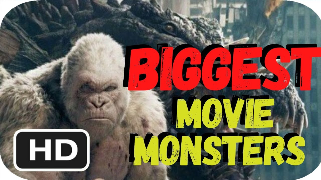 BIGGEST MOVIE MONSTERS by SIZES / REAL DIMENSIONS IN 3D - PCS GIRLS - REACTION