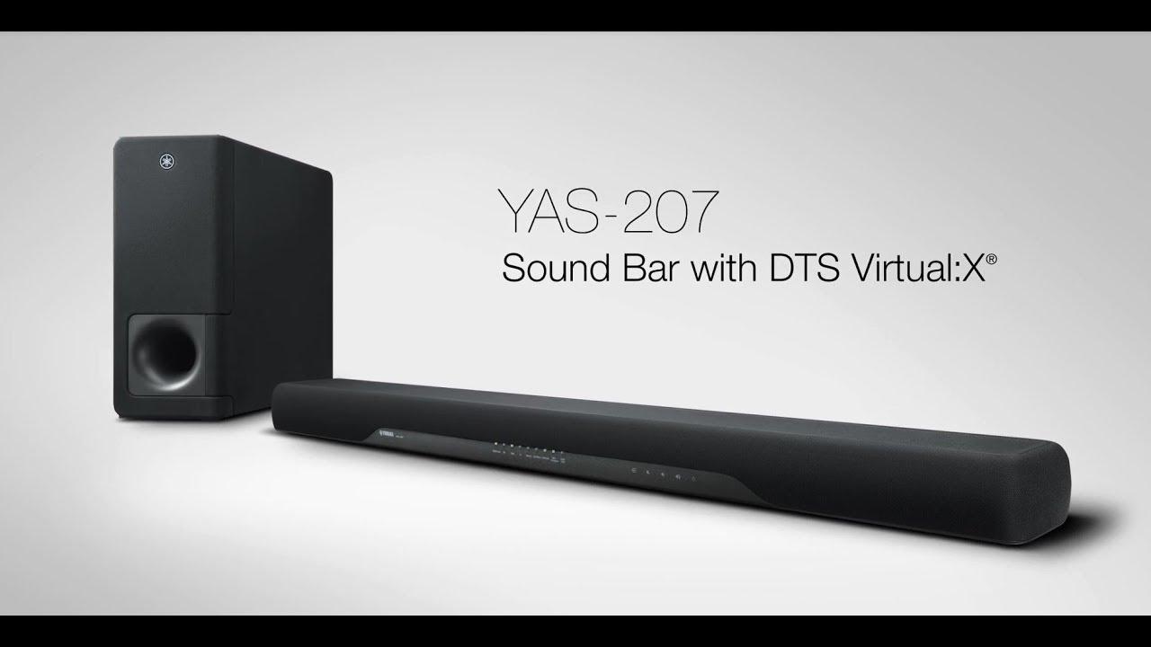 yamaha sound bar yas 207 sleek dynamic wireless youtube. Black Bedroom Furniture Sets. Home Design Ideas