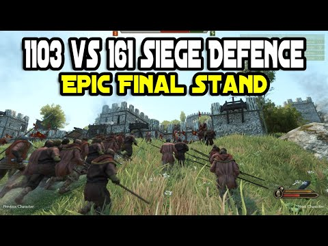 1103 vs 161 Siege Defence Epic Final Stand - Mount & Blade 2: Bannerlord |